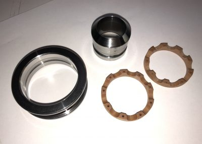 Self-Aligning Thrust Bearing with Phenolic Cage for Swiss Machine Tool (Separated)