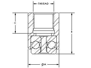 MT-114RG Bearing Dimensions