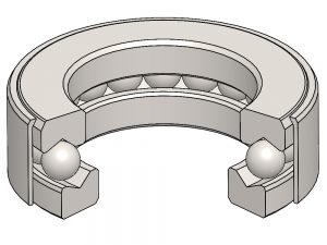 T-100-43 Banded Thrust Ball Bearing
